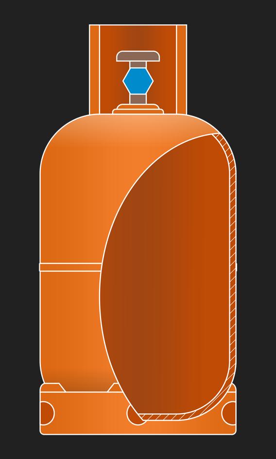 Dijelovi plinske boce